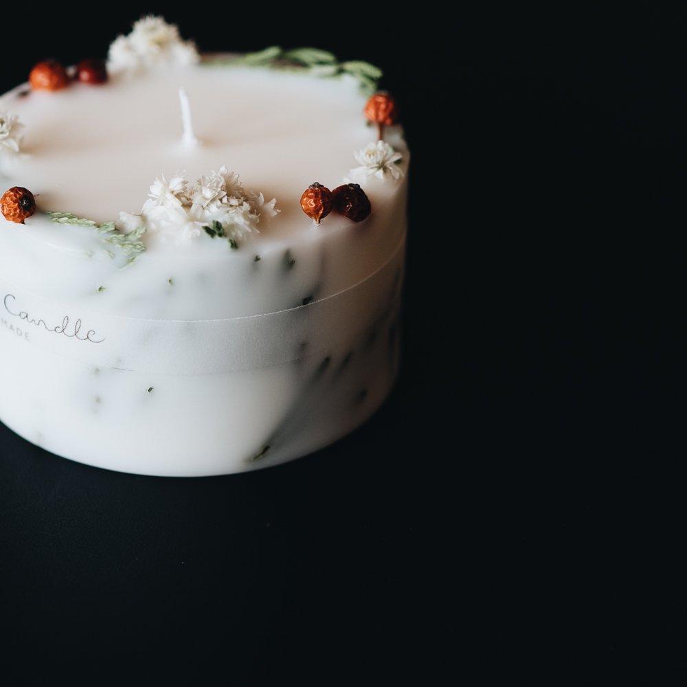 confetti candle  クリスマスキャンドル