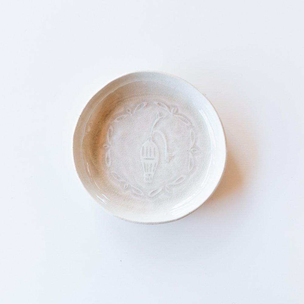 吉澤奈保子 丸絵皿 4b