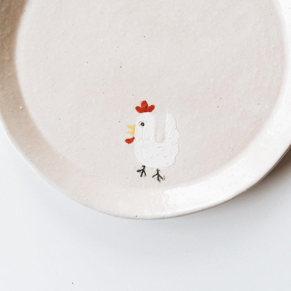宮崎孝彦 丸皿(ニワトリ) 16a