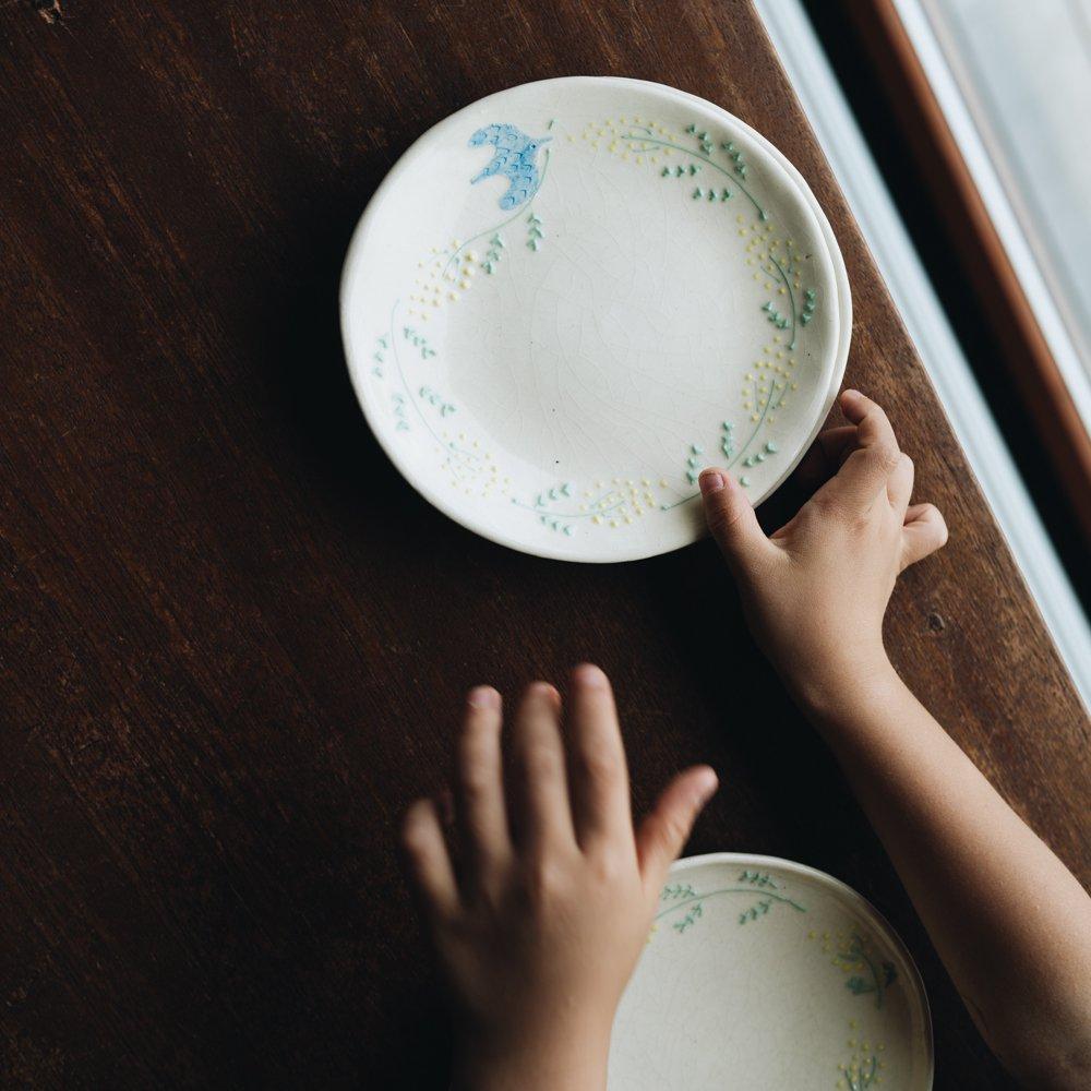 2021年2月20(土)18:00〜「くらしの中のイロドリ展」つちのわ ミモザ皿 15cm  つ1