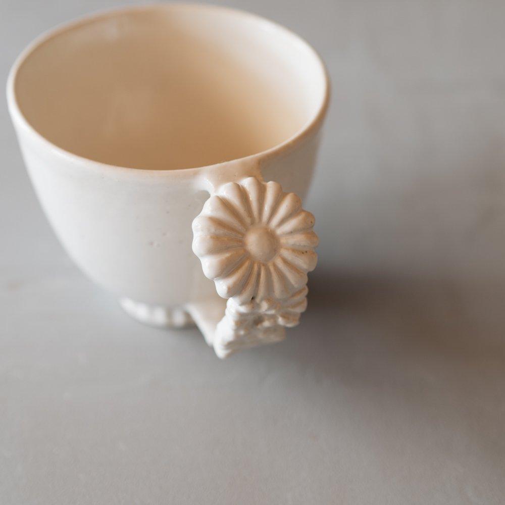 つちのわ 花かんむりマグ 白  10