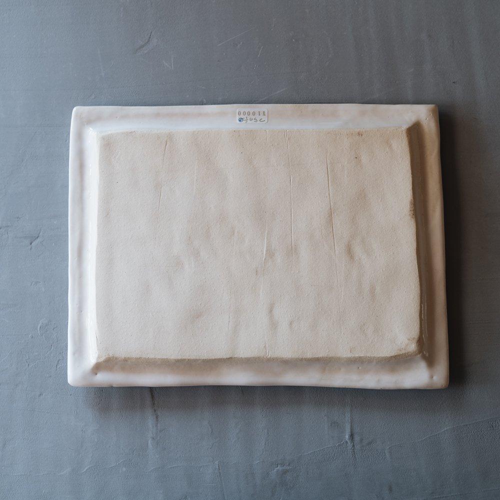 つちのわ すずらん 角皿白  19