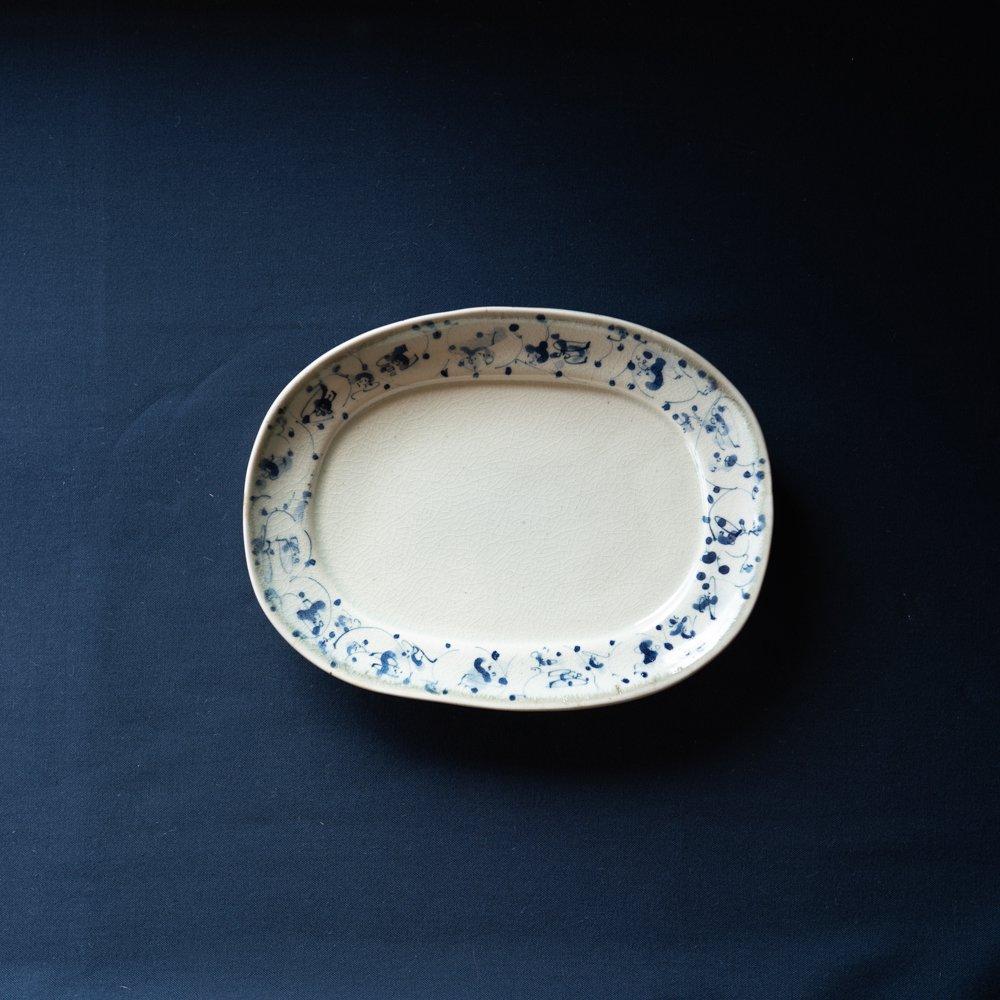 (2021年5月)石井桃子 花唐草オーバル皿  2