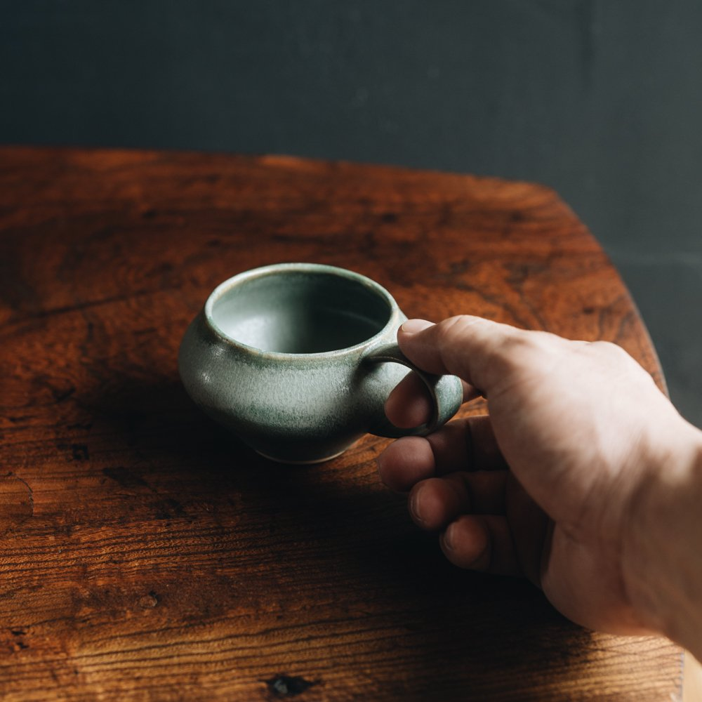 (2021年4月) イロドリ コーヒーのためのカップ(アンティークグリーン)