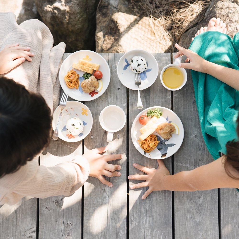 おおたたけし Folk Design  こどもと食事を愉しむための器3点セット (くじらのミニル)