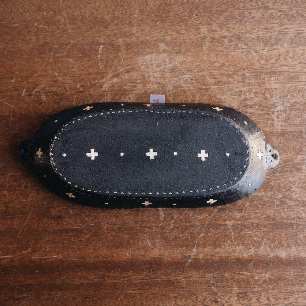 高須愛子 耳付クロス皿 (2020年11月) T17