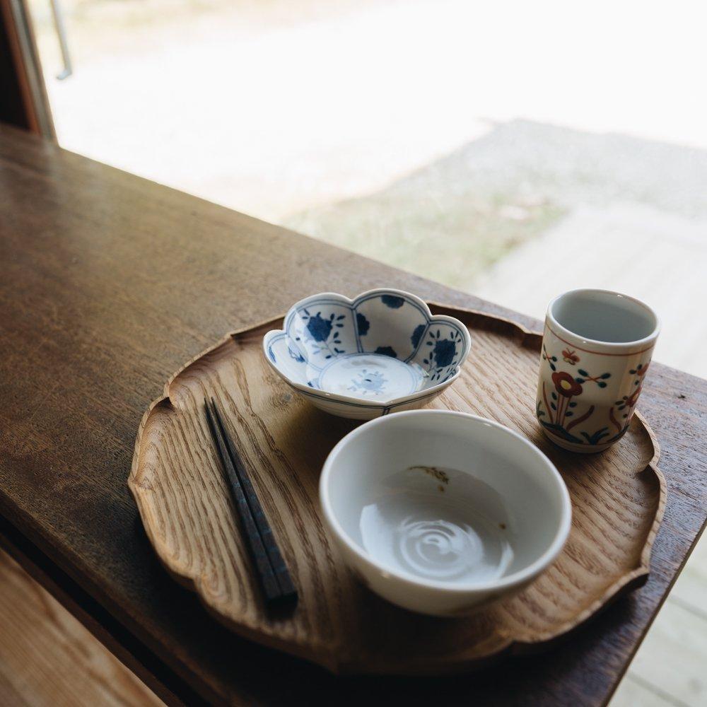 中町いずみ 染付輪花小鉢 青華 (2020年11月) N3