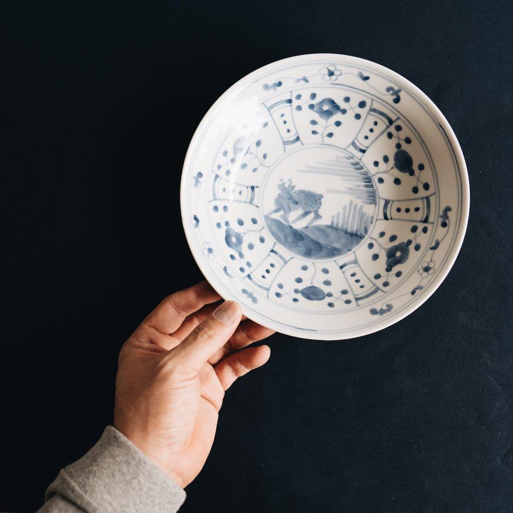 中町いずみ 染付鹿文鉢 (2020年11月) N20