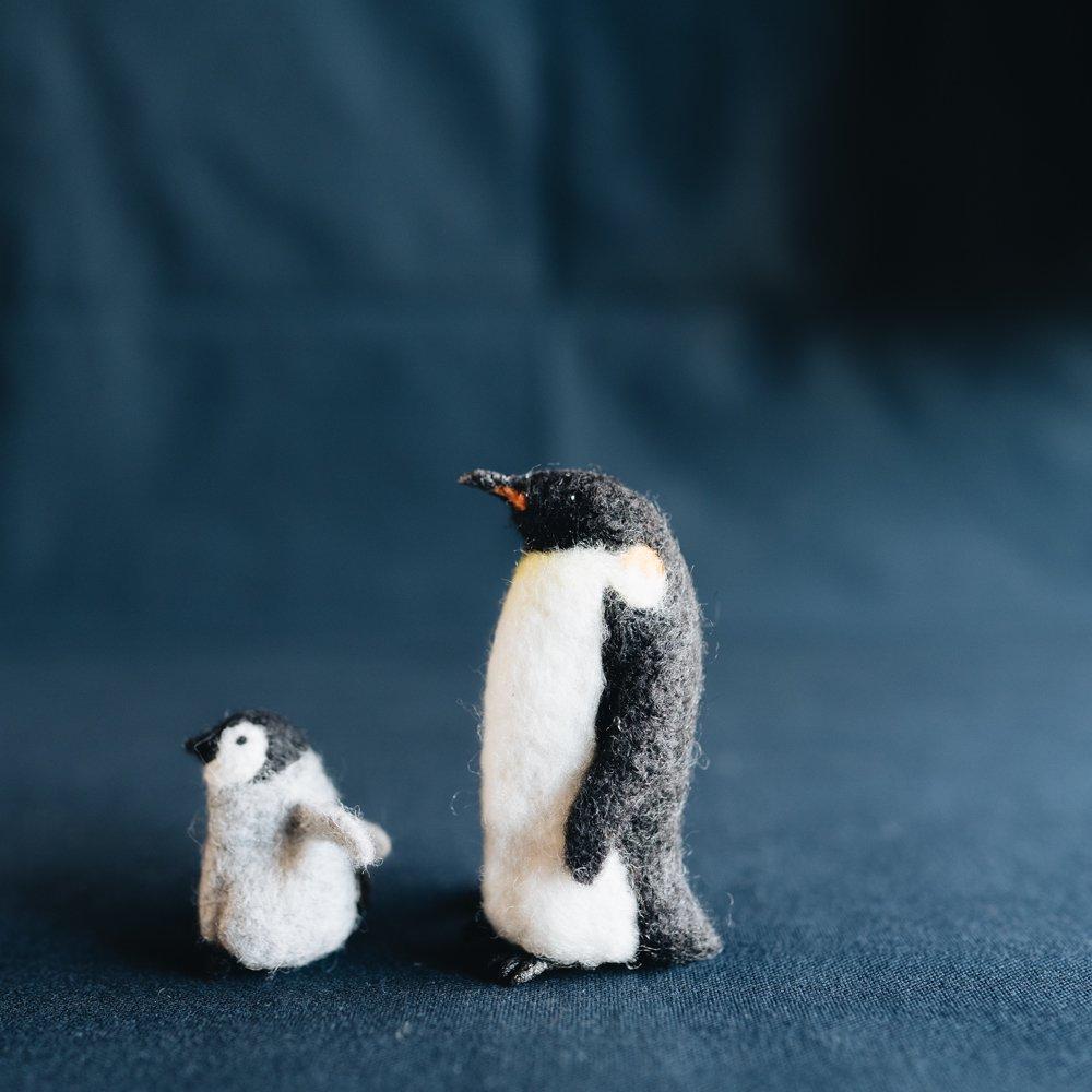 higuma コウテイペンギン親子ブローチ (2020年11月)  H1