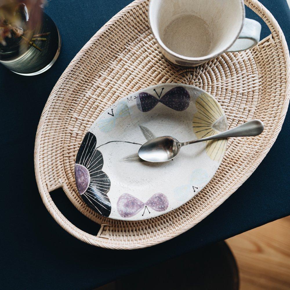(2020年12月) 森野奈津子 楕円鉢(小紫) M2