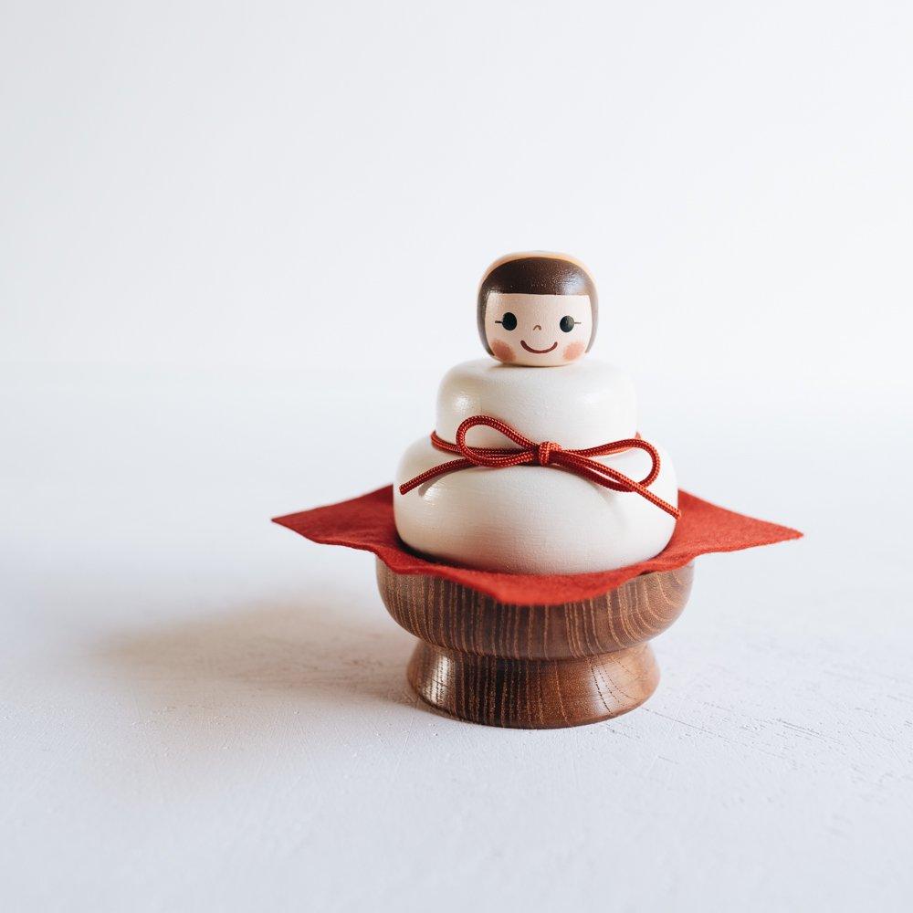 (2020年12月抽選応募)木絵雑貨 鏡餅セット  K2