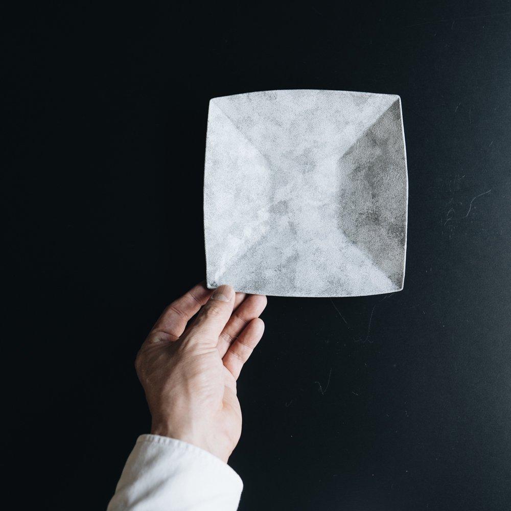 (2021年1月) ラグーン角鉢 ホワイト