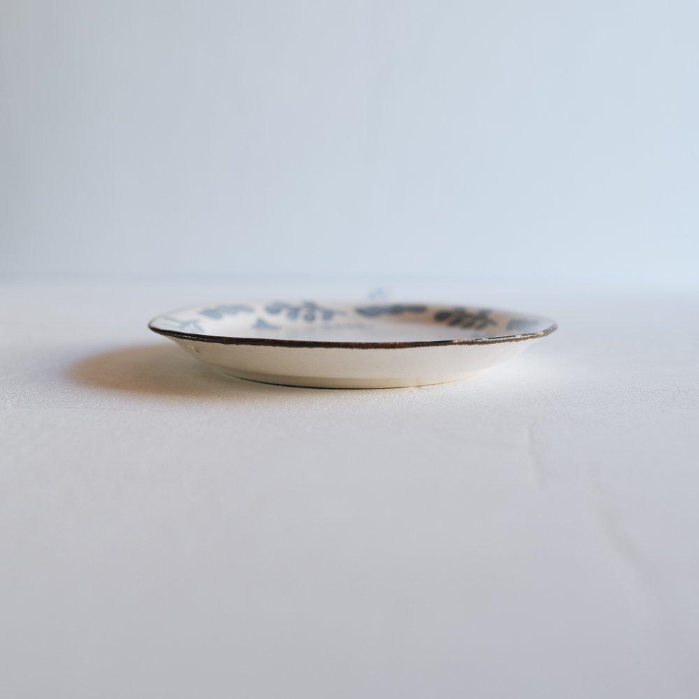 2021年2月20(土)18:00〜「くらしの中のイロドリ展」」 かとうようこ 18cm丸皿  はっぱ か27