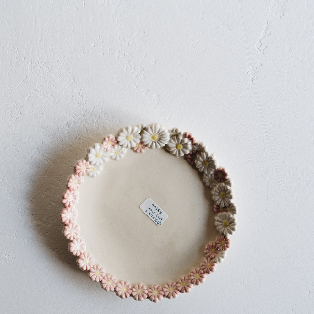 2021年2月20(土)18:00〜「くらしの中のイロドリ展」つちのわ 花かんむり ピンク  15cm   つ10