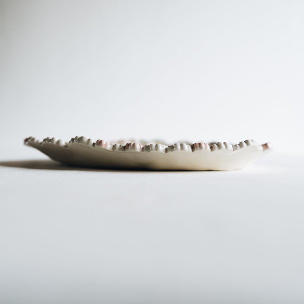 2021年2月20(土)18:00〜「くらしの中のイロドリ展」つちのわ 花かんむりオーバル ピンク  24cm   つ13