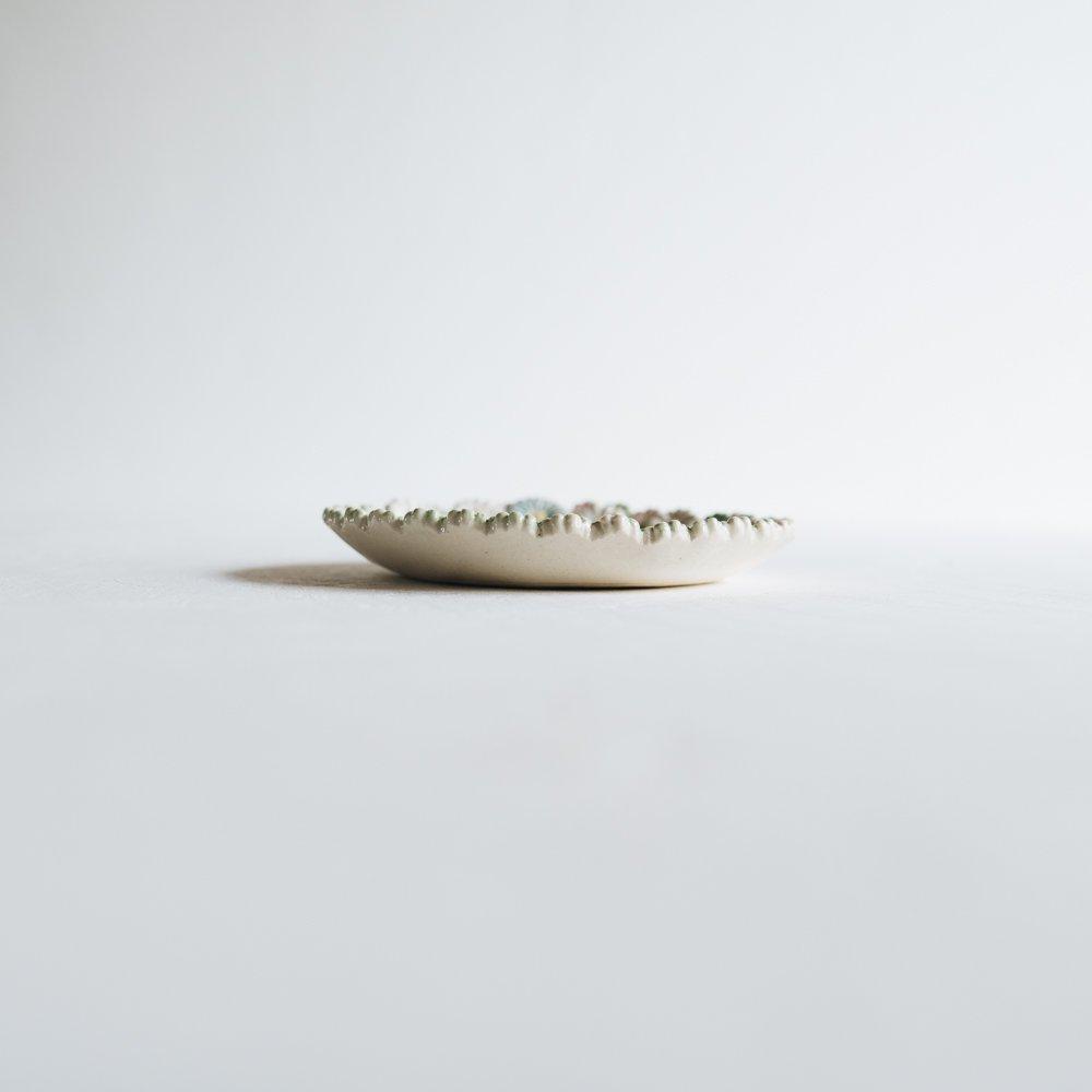 2021年2月20(土)18:00〜「くらしの中のイロドリ展」つちのわ 花かんむり MIX  15cm   つ14