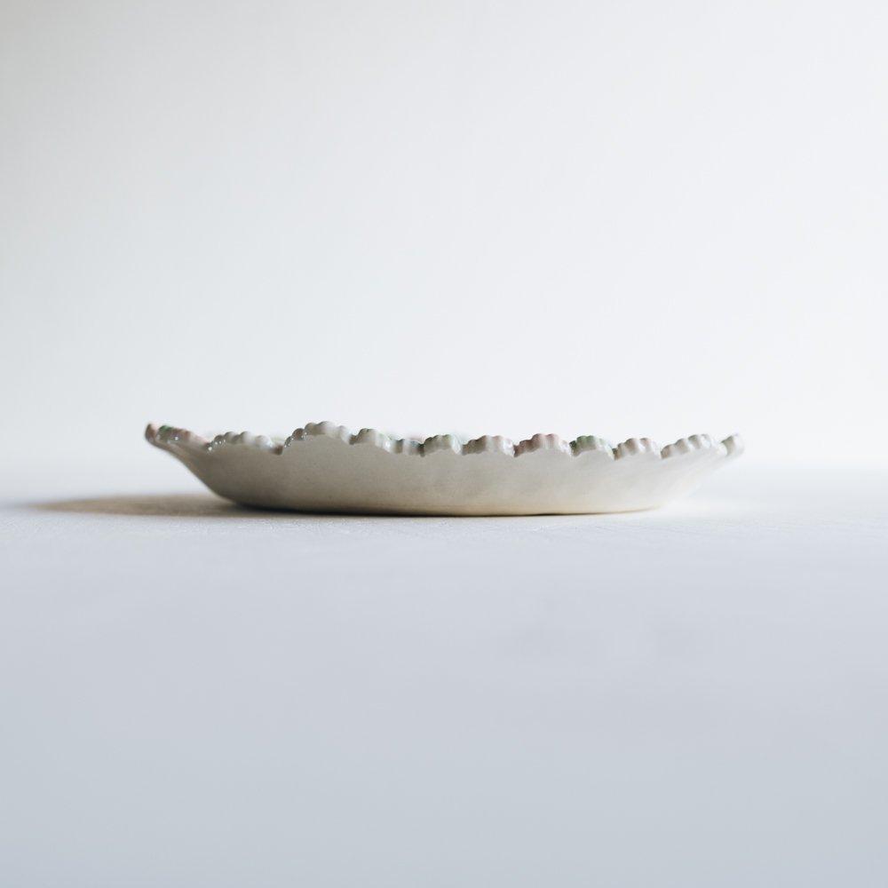 2021年2月20(土)18:00〜「くらしの中のイロドリ展」つちのわ 花かんむりオーバル MIX  24cm   つ17