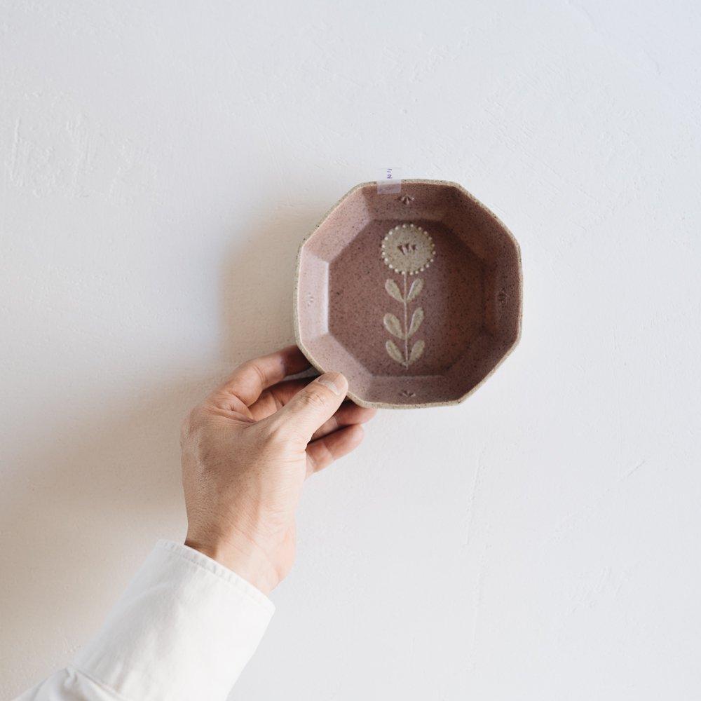 (2021年3月) 苔色工房  八角小鉢凸 こ14-2