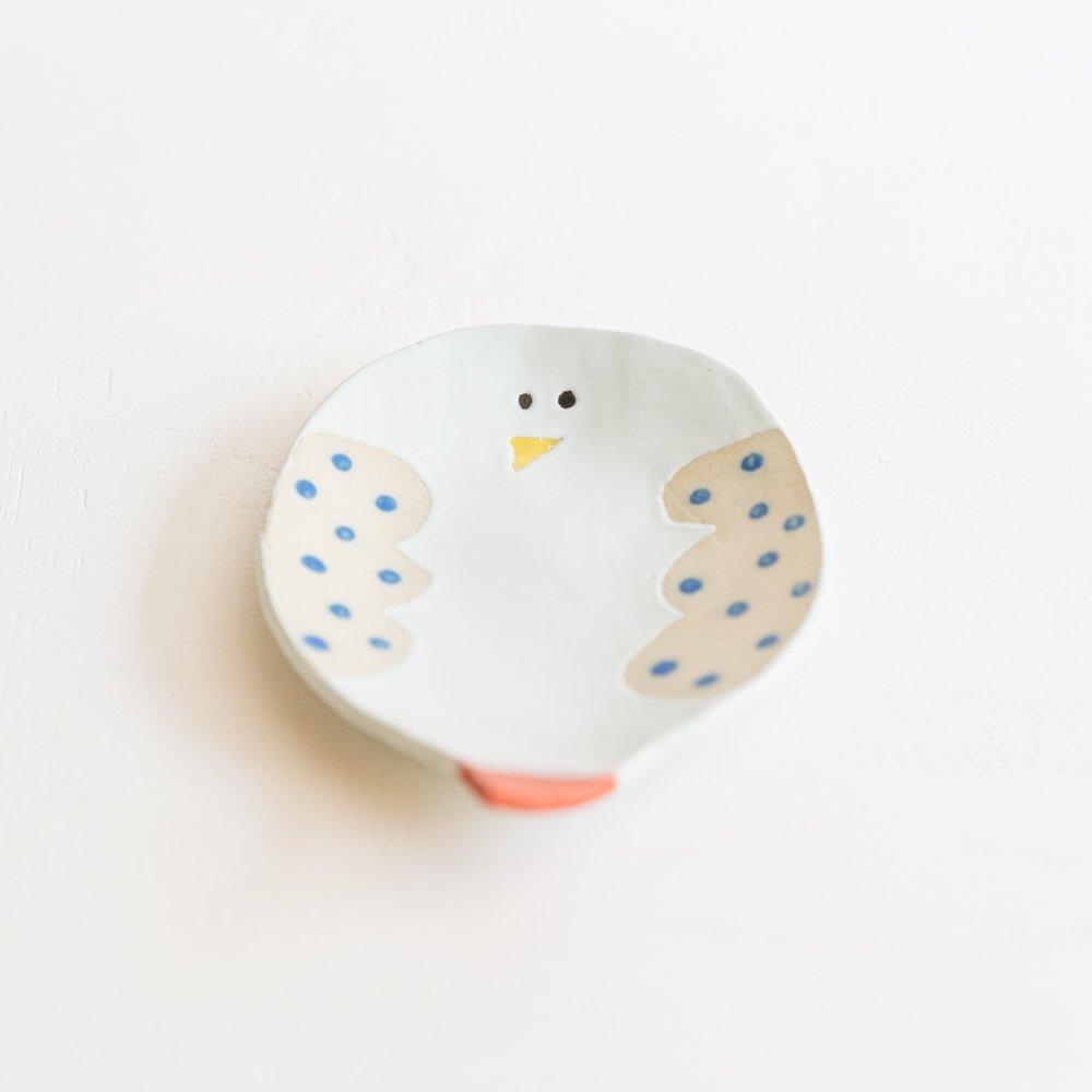 (2021年4月)cosael 鳥の皿  ブルー