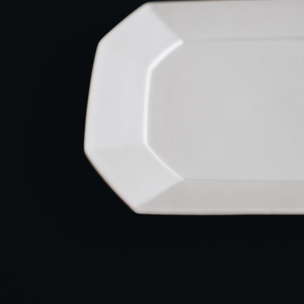 (2021年5月) 波佐見焼 角プレートM (ホワイト) エ1