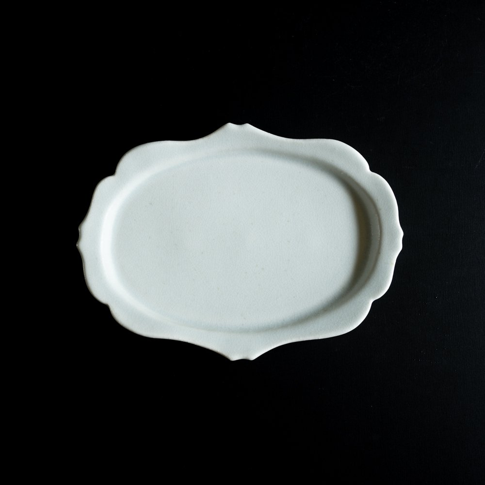 【2021年WEB個展】 広瀬佳子 洋皿L  (氷緑)  (ひ1d)