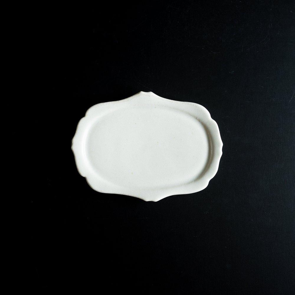 【2021年WEB個展】 広瀬佳子 洋皿M  (氷緑)  (ひ3d)