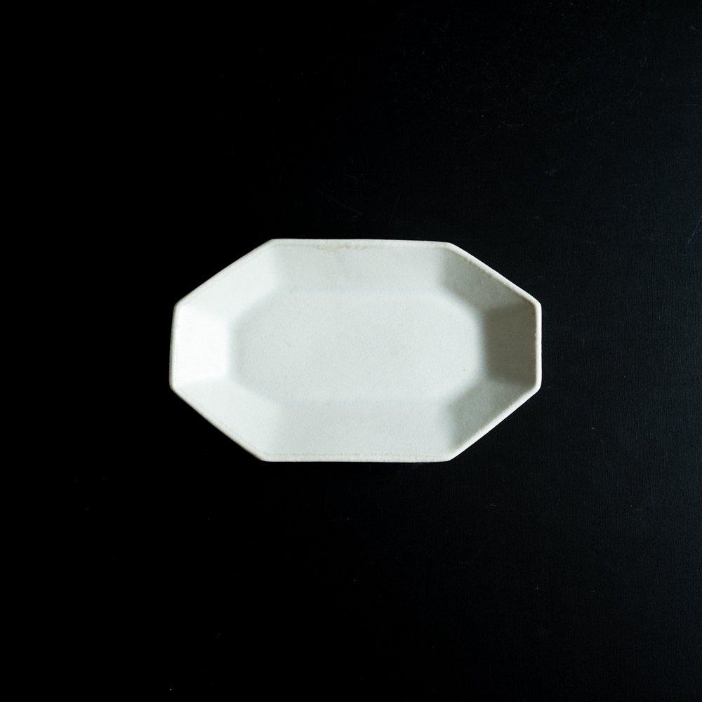 【2021年WEB個展】 広瀬佳子 八角ロングプレートS  (氷緑)  (ひ6d)