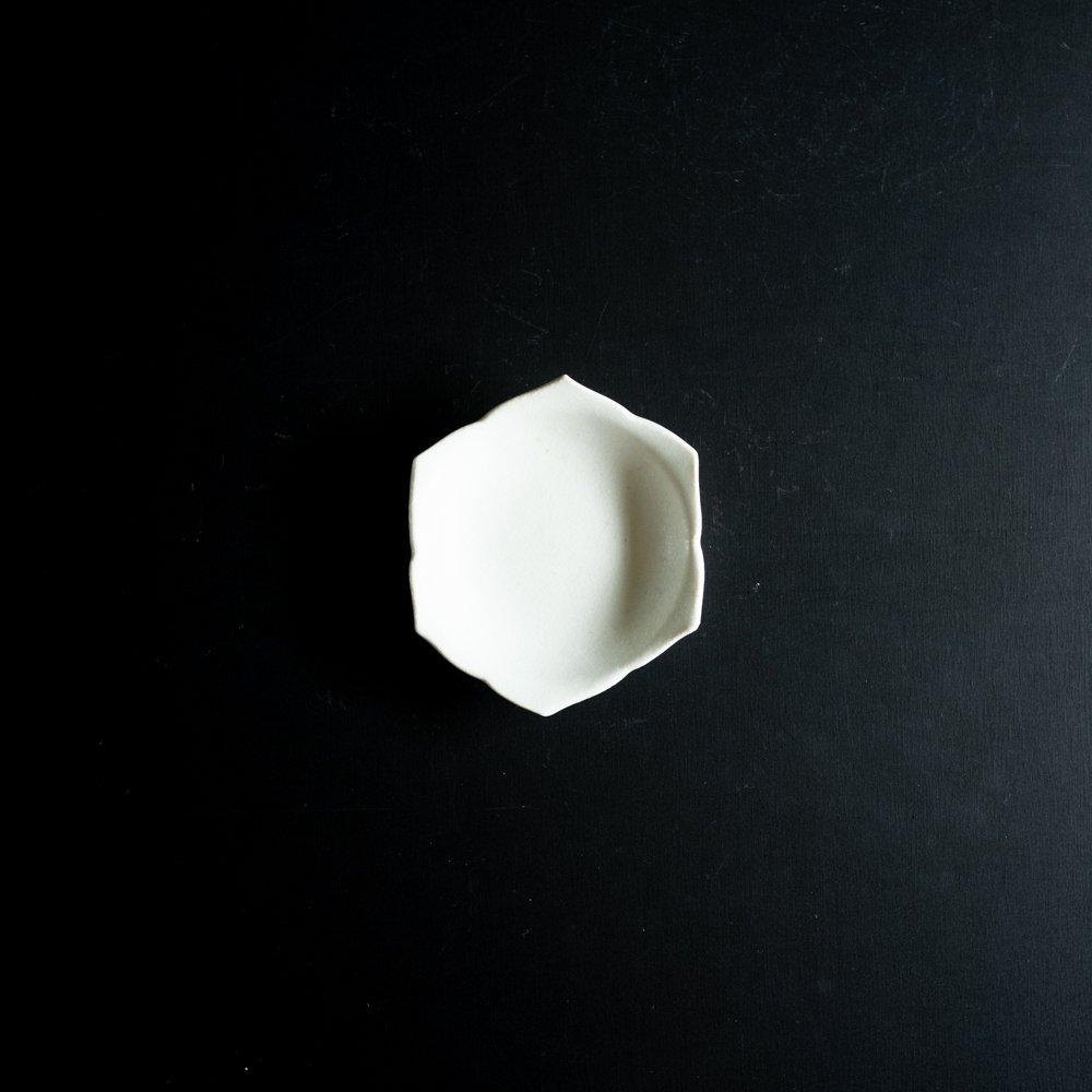 【2021年WEB個展】 広瀬佳子 桔梗小皿  (氷緑)  (ひ10d)