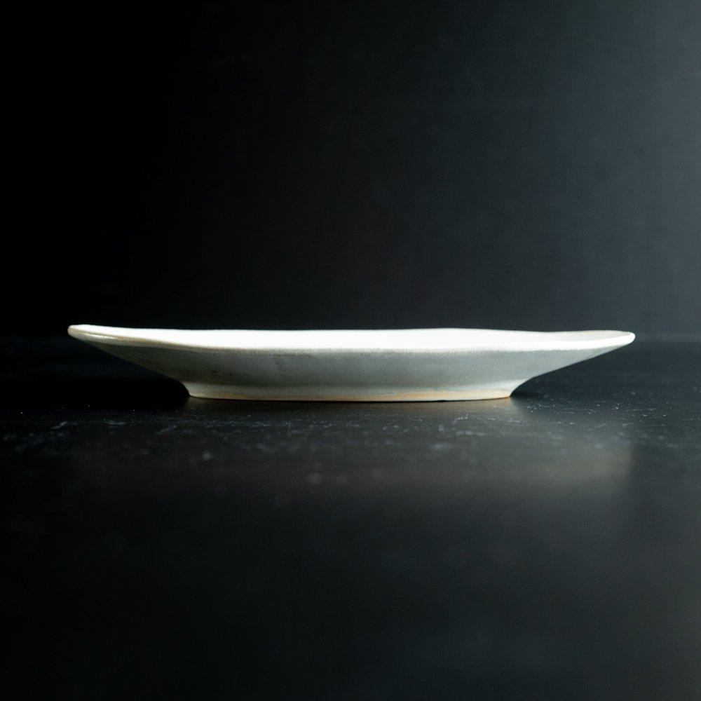 【2021年WEB個展】 広瀬佳子 ロングオーバルプレート  (氷緑)  (ひ15b)