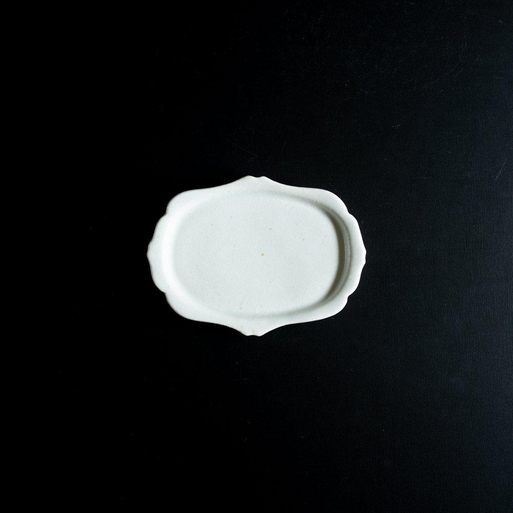 【2021年WEB個展】 広瀬佳子 洋皿S  (氷緑)  (ひ17c)