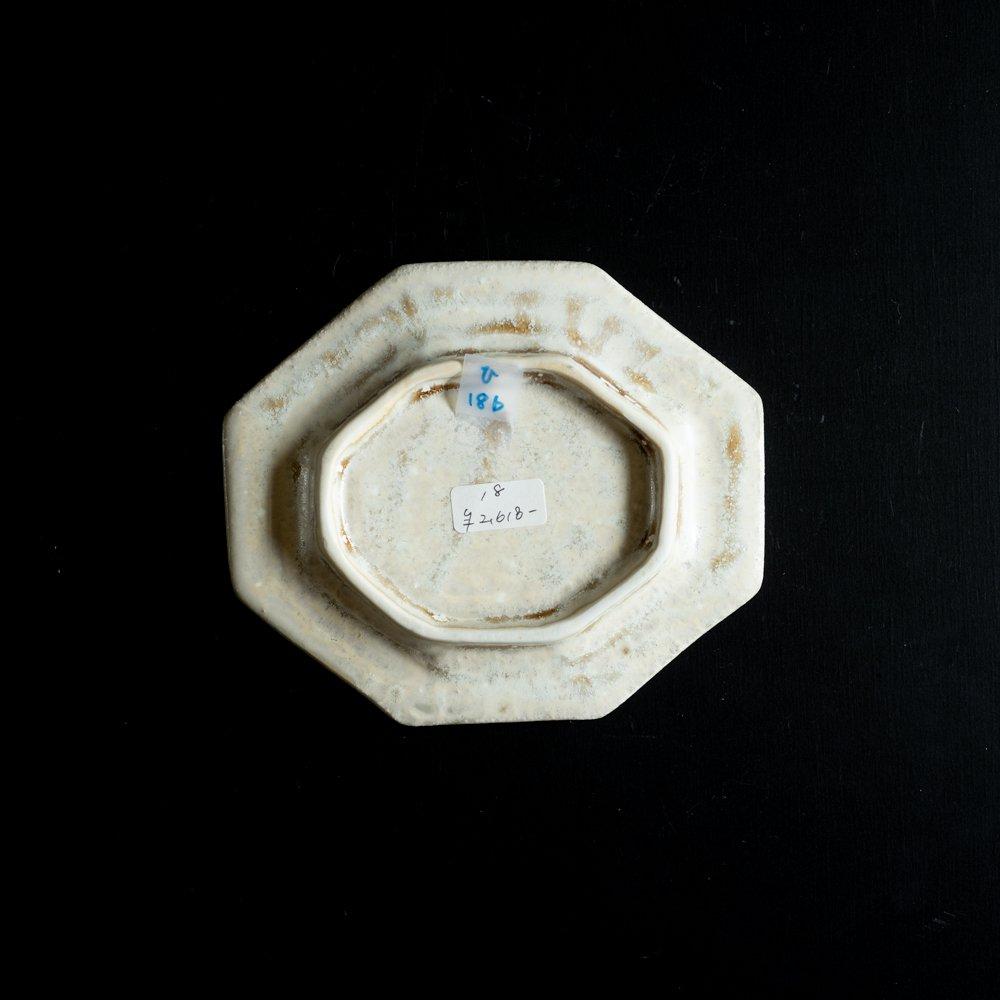 【2021年WEB個展】 広瀬佳子 変わり八角皿  (茶)  (ひ18b)
