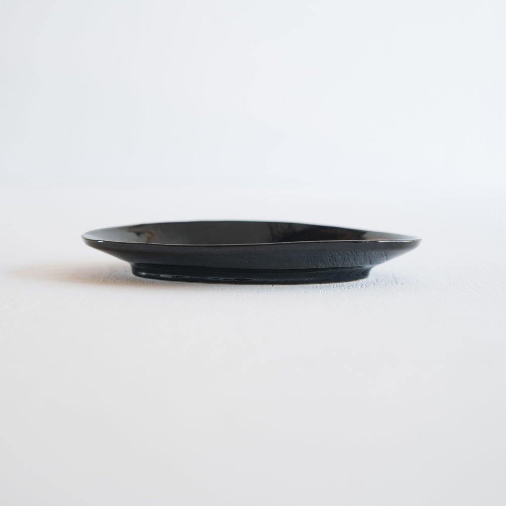 【2021年9月】 矢島操 あめ釉オーバル皿  (や2)