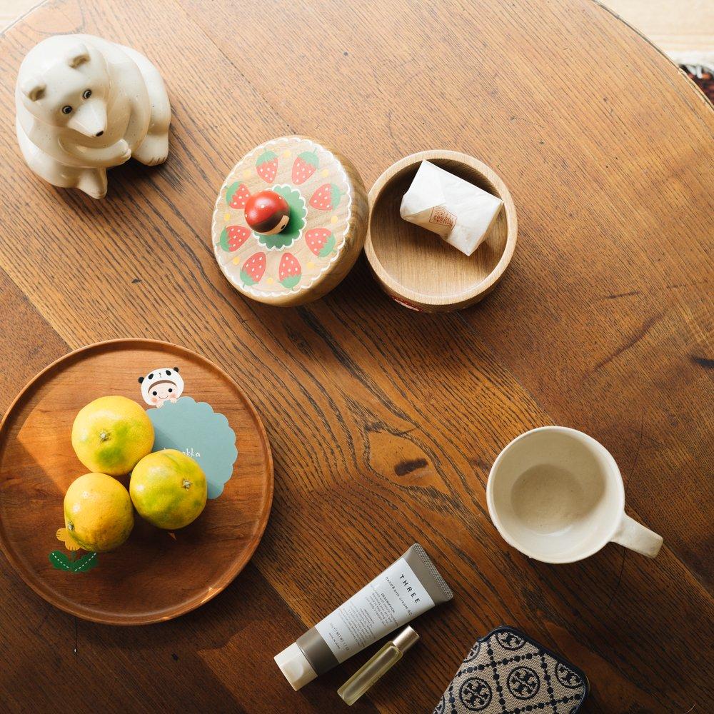 (2021年10月)木絵雑貨 菓子器(タモ) いちご き1