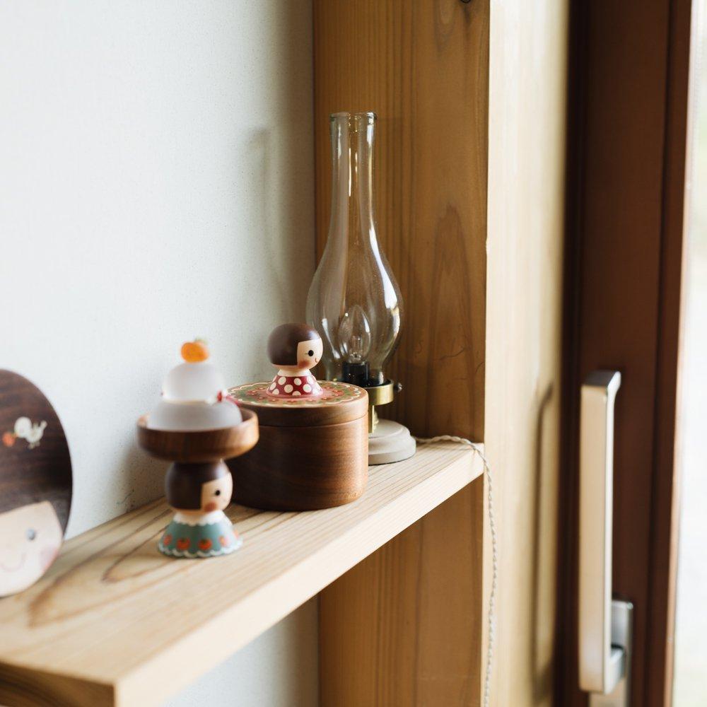 (2021年10月)木絵雑貨 宝石箱(サクラ) 赤 き6