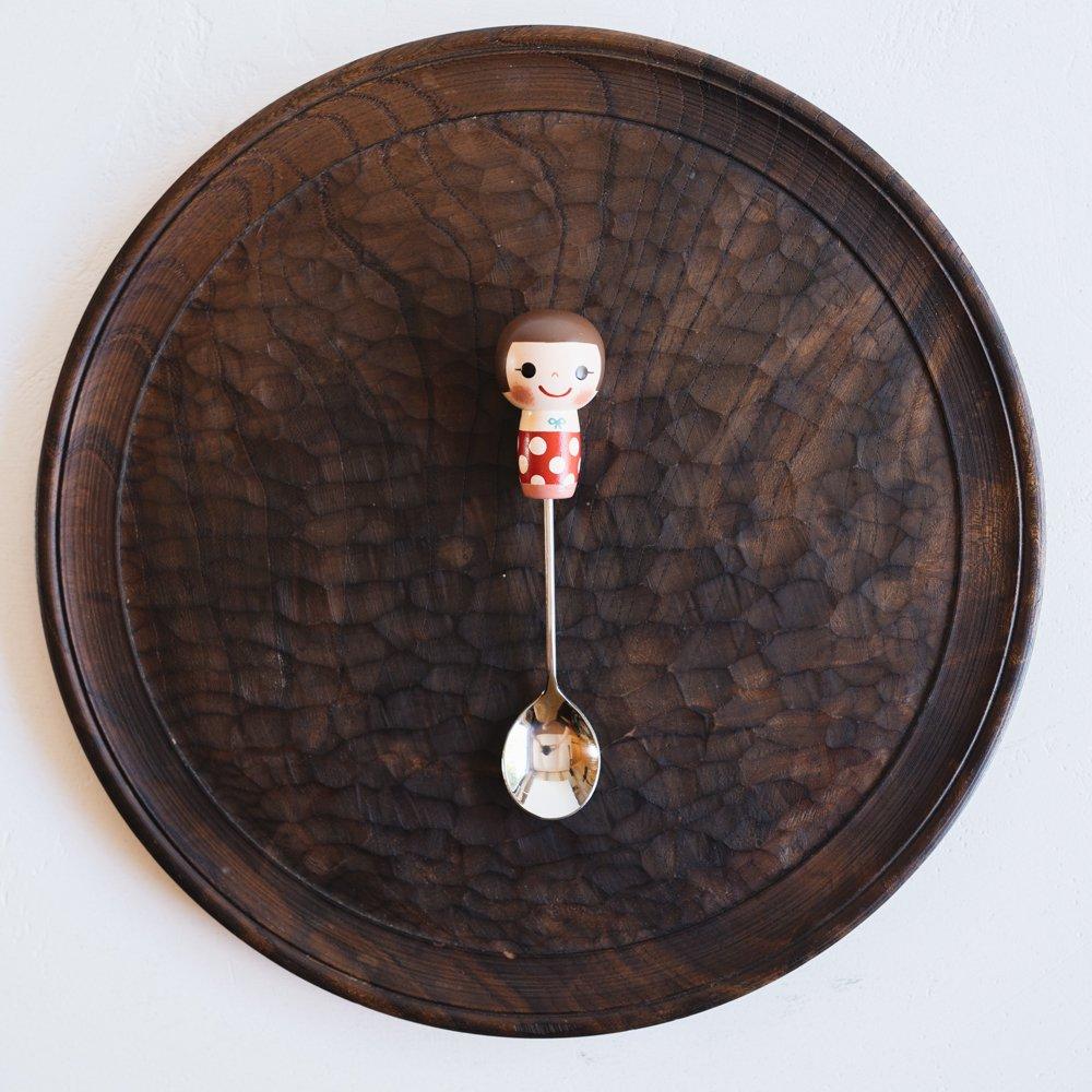 (2021年10月)木絵雑貨 カトラリー スプーン 赤 き10