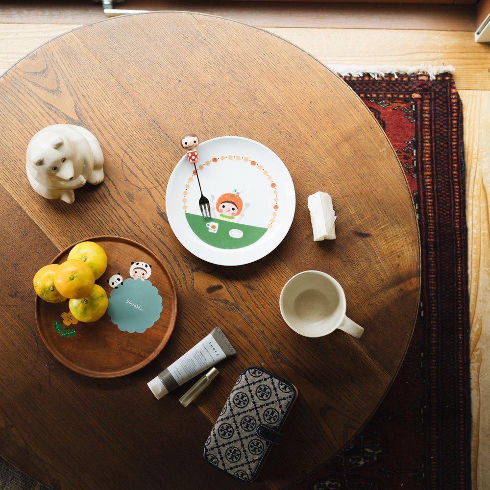 (2021年10月)木絵雑貨 カトラリー フォーク 赤 き13
