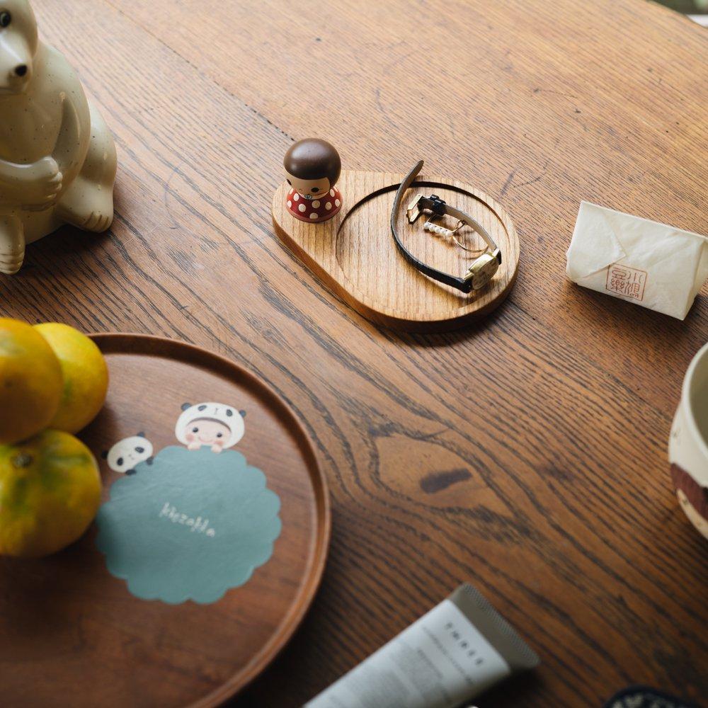 (2021年10月)木絵雑貨 コースター(ケヤキ) 赤 き15