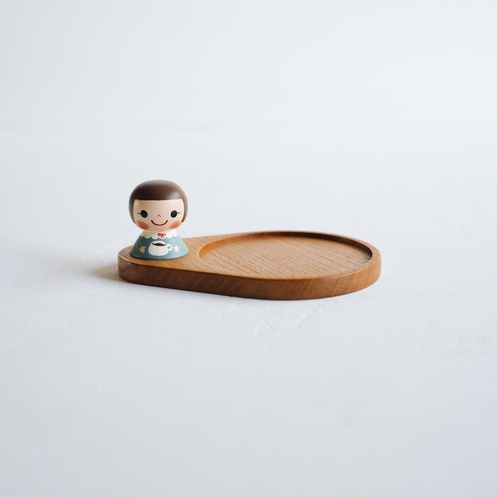 (2021年10月)木絵雑貨 コースター(ケヤキ) コーヒーカップ き16