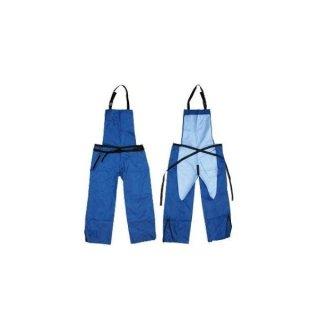 作業エプロン ズボン型 ブルー