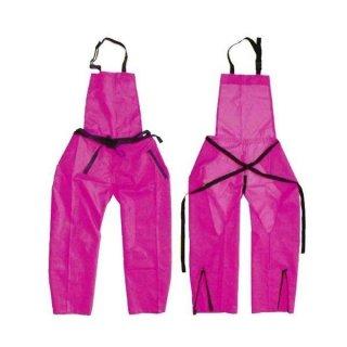 作業エプロン ズボン型 ピンク