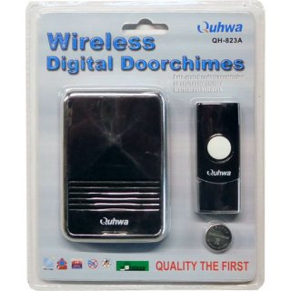 Quhwa ワイヤレス デジタル ドアチャイム QH-823A