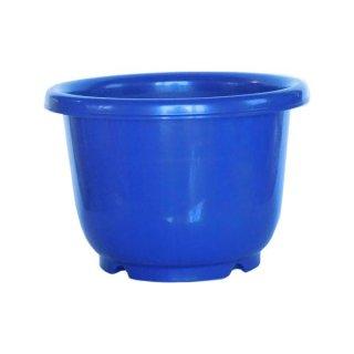 ホリディポット 中鉢 丸 6号 ブルー