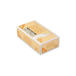 ダンロップ 天然ゴム極うす手袋EX100 Sサイズ 100枚入 左右両用 07619