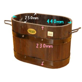 【訳あり・C品】木製プランター ウッドプランター フィールドウィン コンテナ 小判型 中 WP-40
