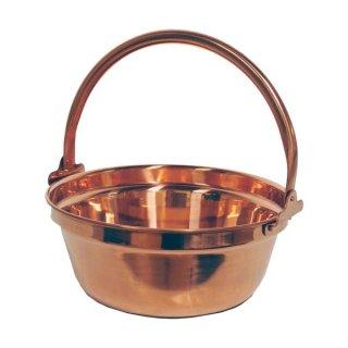 純銅製 山菜鍋 30cm ふたなし