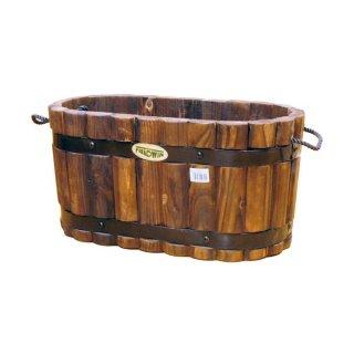 焼杉コンテナ 小判型 中 WP-24 フィールドウィン