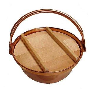 純銅製 山菜鍋 30cm 蓋付き