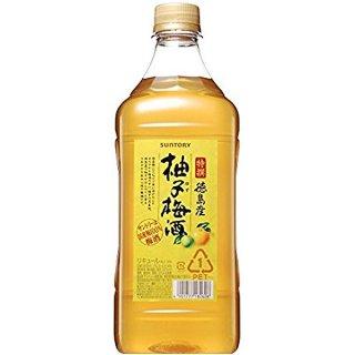 サントリー 特撰 徳島産柚子梅酒 ペット 1.8L(1800ml)