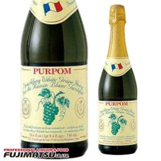 ピュアポム スパークリング ホワイトグレープジュース 750ml ノンアルコール PURPOM ストレート果汁100%