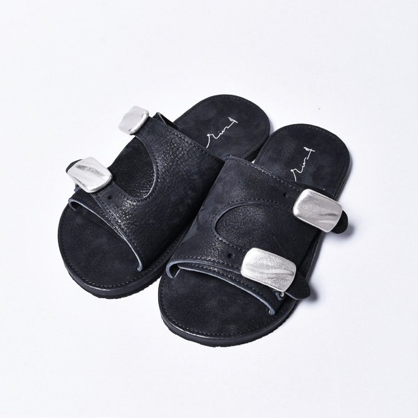 rin / Leather Block Sandals